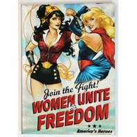 DC Bombshells Wonder Woman Supergirl FRIDGE MAGNET DC Comics Comic Book Justice League