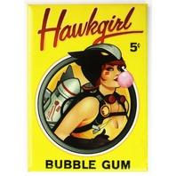 DC Bombshells Hawkgirl Bubble Gum FRIDGE MAGNET DC Comics Comic Book E6