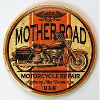 Route 66 Mother Road Motorcycle Repair FRIDGE MAGNET Harley Bike