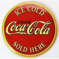 Ice Cold Coca Cola Sold Here FRIDGE MAGNET Coke Soda Pop Vintage Style AD Classic
