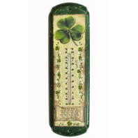 Irish Blessing Metal Thermometer Garden Shamrock Clover Prayer St Patrick Day