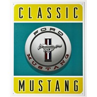 Classic Mustang Tin Metal Sign Ford 5.0 GT Shelby Cobra 289 Pony Fastback Fox Box