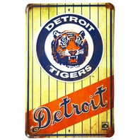Detroit Tigers Tin Metal Sign MLB Baseball AL Miguel Cabrera Michigan Sports