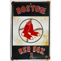 Boston Red Sox Metal Sign MLB Baseball AL Big Papi Ortiz Green Monster Fenway Park