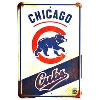 Chicago Cubs Tin Metal Sign MLB Baseball NL Wrigley Field Rizzo Arrieta Sports