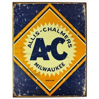 Allis Chalmers Tractors Milwaukee Tin Metal Sign Farming Farm Country Tractor AC