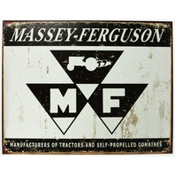 Massey Ferguson Tractors Milwaukee Tin Sign Farming Farm Country Allis Chalmers