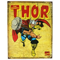 The Mighty Thor Tin Metal Sign Marvel Comics Avengers Iron Man