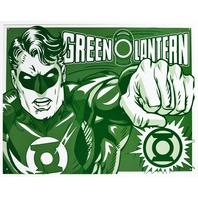 The Green Lantern Tin Metal Sign DC Comics Comic Book Hero Justice League