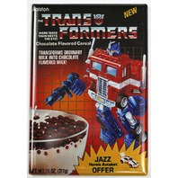 Transformers Cereal FRIDGE MAGNET Jazz Optimus Prime Robot 80's Cartoon