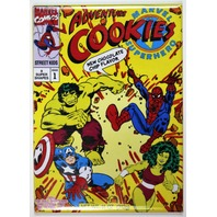 Marvel Super Hero Adventure Cookies FRIDGE MAGNET Spiderman Hulk Captain America