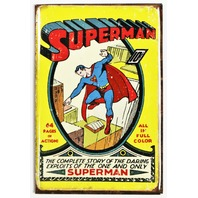 Superman FRIDGE MAGNET Vintage Style Comic Book DC Comics Origins  M6