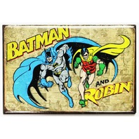 Batman and Robin FRIDGE MAGNET Vintage Style Comic Book DC Comics Retro