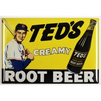 Teds Creamy Root Beer FRIDGE MAGNET MLB Baseball Red Sox Ted Williams