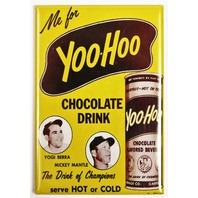 Yoo-Hoo Chocolate Yogi Berra Mickey Mantel FRIDGE MAGNET New York Yankees Baseball