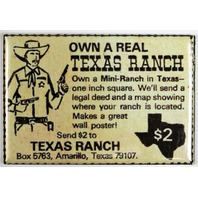 Own a Real Texas Ranch FRIDGE MAGNET Vintage Comic Book Ad Cowboy Western