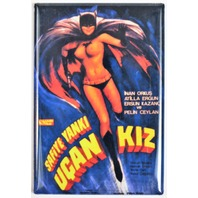 Batman Batgirl FRIDGE MAGNET Foreign Movie Poster Pin Up Girl DC Comics