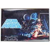 Star Wars 1976 Movie Poster FRIDGE MAGNET Sci Fi Vintage Style