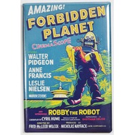 Forbidden Planet Movie Poster FRIDGE MAGNET Sci Fi Vintage Style
