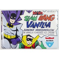Batman Slam Bang Vanilla Ice Cream FRIDGE MAGNET Vintage Style Ad Robin