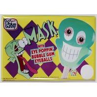 Blue Bunny Mask Bubble Gum Eyeballs FRIDGE MAGNET Vintage Style AD
