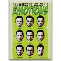 Big Bang Theory Sheldons Emotions Chart  FRIDGE MAGNET DC Comics Star Arrow