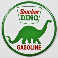 Sinclair Dino Gasoline Round FRIDGE MAGNET Gas Oil Mechanic Garage Dinosaur