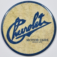 Chevrolet Motor Cars Round FRIDGE MAGNET Chevy Corvette Camaro Chevelle Nova
