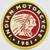 Indian Motorcycles 1901 Round FRIDGE MAGNET Chief Indian head Logo Bike Travel