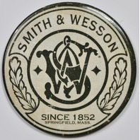 Smith and Wesson FRIDGE MAGNET Pistols Machine Guns Fire Arms Vintage Logo