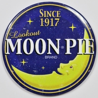 Lookout Moon Pie Round FRIDGE MAGNET Snack Candy Moon Logo Kitchen Decor