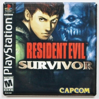 Playstation Resident Survivor Fridge Magnet Capcom Video game