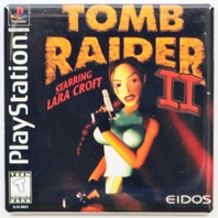 Playstation  Tomb Raider 2 Fridge Magnet Capcom Video game Lara Croft
