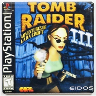 Playstation  Tomb Raider 3 Fridge Magnet Capcom Video game Lara Croft