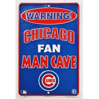Chicago Cubs Fan Man Cave Tin Sign MLB Baseball Wrigley Field Rizzo Arrieta