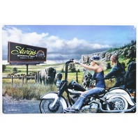 Sturgis Motorcycle Rally Tin Sign Heritage Softail Bike 73rd Annual Motorcycles