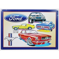 Ford Mustang Boss 302 Tin Sign GT Shelby Fastback Fox Pony Car B50
