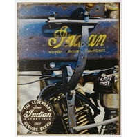 The Legendary Indian Motorcycle Tin Metal Sign Heritage Chief Bike Motorcycles