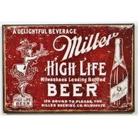 Miller High Life Beer FRIDGE MAGNET Vintage Style Label AD Bar Alcohol Pub