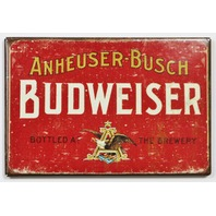 Anheuser Busch Budweiser Beer FRIDGE MAGNET Brewery Label AD Bar Alcohol