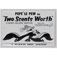 Looney Tunes Pepe Le Pew FRIDGE MAGNET Warner Bros Movie Poster