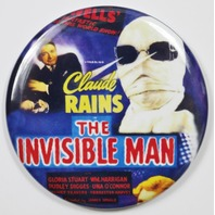 The Invisible Man Movie Poster FRIDGE MAGNET HG Wells Monster Film Horror 2 1/4""