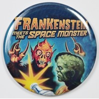 Frankenstein Meets the Space Monster Movie Poster FRIDGE MAGNET Monster Film