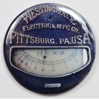 """Westinghouse Pittsburgh Steampunk Gauge FRIDGE MAGNET Meter Vintage Style 2 1/4"""""""