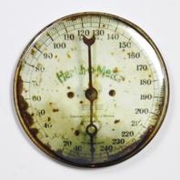 "Health o Meter Steampunk Gauge FRIDGE MAGNET Vintage Style 2 1/4"" Rnd"