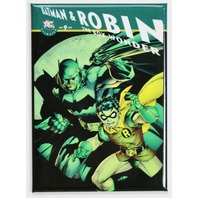 Batman and Robin Boy Wonder FRIDGE MAGNET DC Comics Batmobile G17