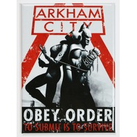Batman Arkham City Catwoman FRIDGE MAGNET DC Comics Batmobile Gotham Comic Book Dark Knight