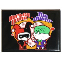 Chibi Harley Quinn and The Joker FRIDGE MAGNET DC Comics Batman