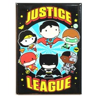 Chibi Justice League FRIDGE MAGNET DC Comics Batman Superman Wonder Woman Flash