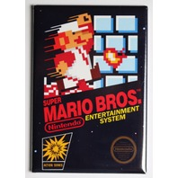 Nintendo Super Mario Bros FRIDGE MAGNET Video Game Box Classic NES